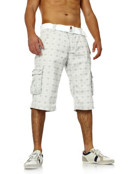 38bb91525e62fd Checked Men Cargo Shorts by Sublevel grey