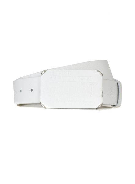 Cipo Baxx Ledergürtel Crafted weiß