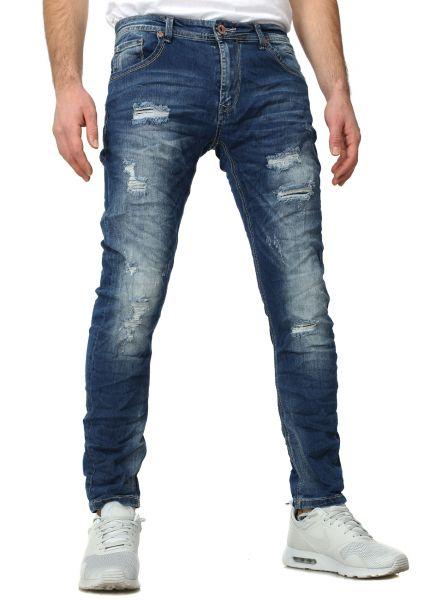 YC Clothing destroyed Jeans Bangkok dark blue