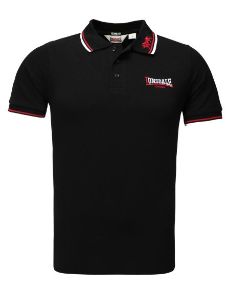 Lonsdale Men Polo Shirt black