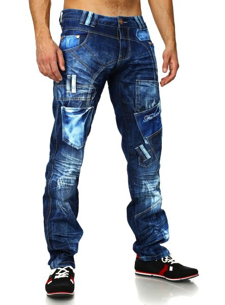 c29be364a71d1c Jeans Men destroyed Kosmo Lupo blue