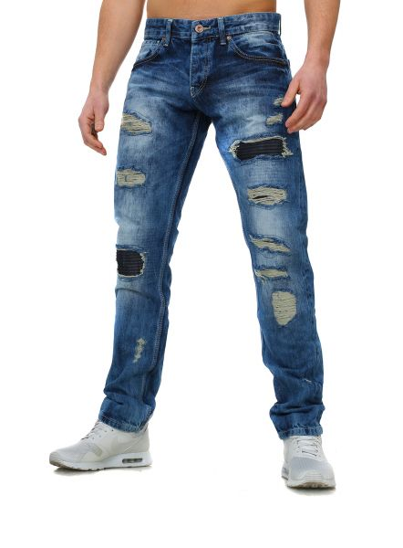 Young & Rich Jeans Trash blau
